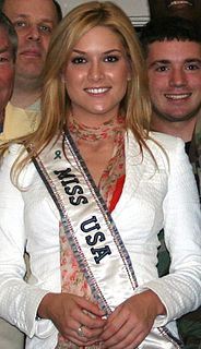 Tara Conner American model and winner of Miss USA 2006