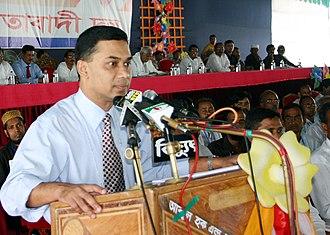 Tarique Rahman - Rahman addressing a grass-roots council