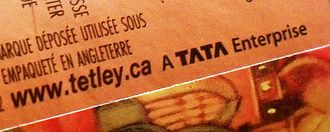 Tata Global Beverages - Tetley tea canister from Canada