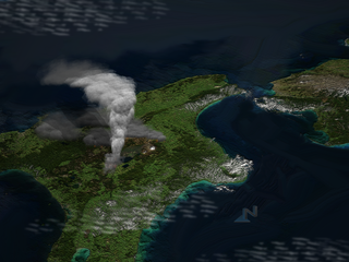 Oruanui eruption Worlds most recent supereruption, of Taupo Volcano, New Zealand
