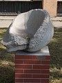 Tectonic movements sculpture in Jedlik Anyos high school garden, 2016 Csepel.jpg