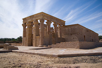 Psamtik II - Another view of the reconstructed Temple of Hibis at Kharga Oasis in December 2008.