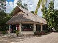 Tenda na entrada dun cenote en Chichén Itzá. Quintana Roo. México.jpg