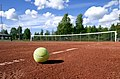 Tennis ball on tennis court 20170619.jpg