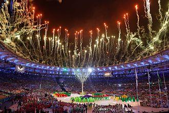 2016 Summer Olympics closing ceremony - Image: Terminam os Jogos Olímpicos Rio 2016 (29040726262)
