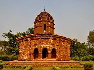 Bishnupur, Bankura - Terracotta temple found in Bishnupur, Bankura, West Bengal, India