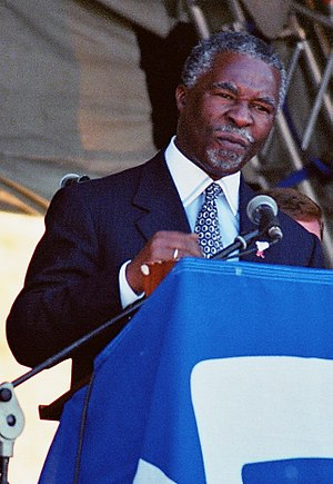 Thabo Mbeki - Mbeki giving a speech to District Six land claimants in Cape Town
