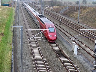 HSL 1 railway line in Belgium