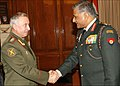 The Chief of General Staff of the Russian Armed Forces, General Nikolay Makarov calling on the Chief of Army Staff, General V.K. Singh, in New Delhi on December 09, 2010.jpg