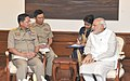 The Commander-in-Chief of Defence Services, Myanmar, Senior General Min Aung Hlaing calling on the Prime Minister, Shri Narendra Modi, in New Delhi on July 29, 2015 (1).jpg