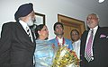 The Gold Medal winner (Beijing Olmpics-2008), Shri Abhinav Bindra alongwith his parents meeting with the Minister of State (Independent Charge) for Youth Affairs & Sports, Dr. M.S. Gill, in New Delhi on August 14, 2008.jpg