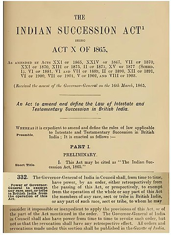 indian succession act