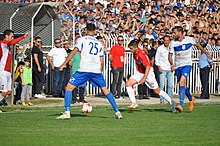 The Kosovo Derby at Gjilan City Stadium in 2018.jpg