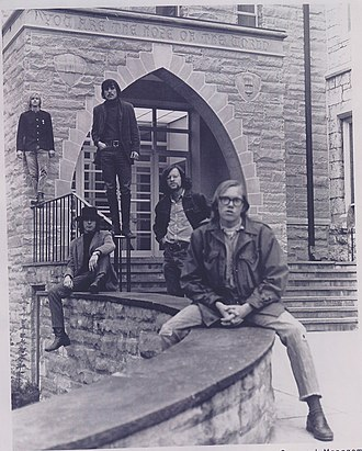 "Eric Bloom - The group ""Lost and Found"", 1966. From left: Peter Haviland, Jeff Hayes, John Trivers, Eric Bloom, and George Faust"