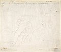 The Martyrdom of the seven brothers; verso- Sketch of two men wrestling (?) MET DP804008.jpg