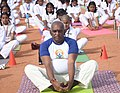 The Minister of State for Road Transport & Highways and Shipping, Shri P. Radhakrishnan performing Yoga, on the occasion of the 3rd International Day of Yoga – 2017, at Madurai on June 21, 2017.jpg