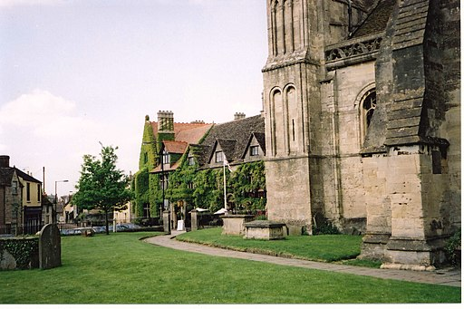 The Old Bell Inn from Malmesbury Abbey - geograph.org.uk - 1777286