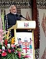 The Prime Minister, Shri Narendra Modi addressing at the traditional welcome ceremony, in Suva, Fiji on November 19, 2014.jpg