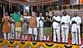 The Prime Minister, Shri Narendra Modi flagging-off the DEMU Service between Bidar and Kalaburagi, at Bidar Railway Station, in Karnataka.jpg