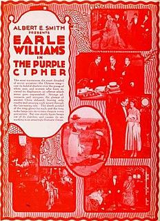 <i>The Purple Cipher</i> 1920 silent film