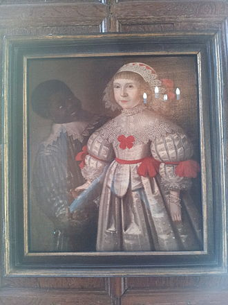 Red Lodge Museum, Bristol - Portrait of Florence Smyth and Black 'Page' by Gilbert Jackson