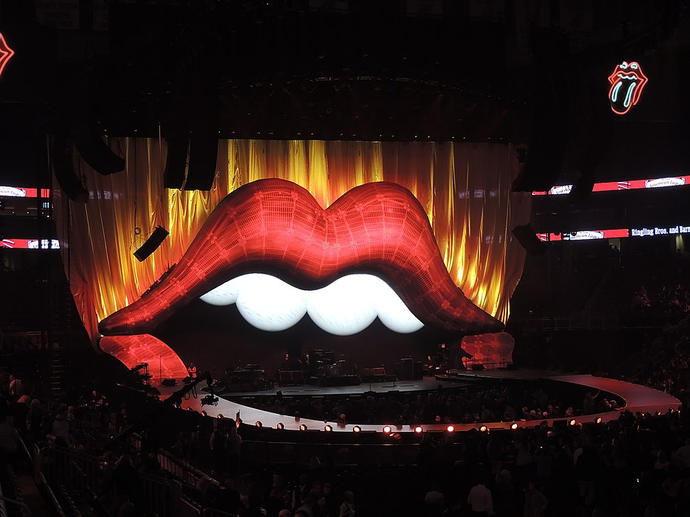 The Rolling Stones stage props at Prudential Center 2012-12-13