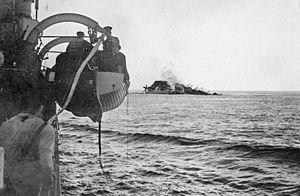 RMS Lancastria - Lancastria sinking off Saint-Nazaire, France, 17 June 1940.