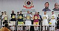 The Union Home Minister, Shri Rajnath Singh unveiling the training manual of the Student Police Cadet (SPC), during the launch of the Student Police Cadet (SPC) programme for nationwide implementation, in Gurugram, Haryana.JPG