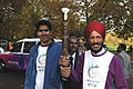 The Veteran Athlete, Shri Milkha Singh and Olympian Vijender Kumar holding the Queen's Baton on the occasion of the launching ceremony of the Queens Baton Relay, in London on October 29, 2009.jpg