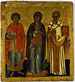 The Virgin and Child with saints Nicholas and George - Google Art Project.jpg
