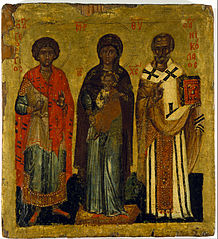The Virgin and Child with saints Nicholas and George