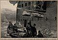 The War in Egypt; hoisting invalids on board a hospital ship Wellcome V0015351.jpg