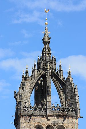 St Giles' Cathedral - The crown steeple dates from the late 15th century
