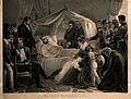 The death of Napoleon Bonaparte at St Helena in 1821. Lithog Wellcome V0006858.jpg