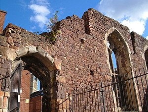 Exeter Blitz - Remains of the Vicars Choral in South Street