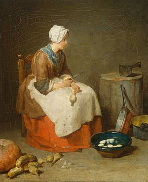 The kitchen maid by Jean-Baptiste Simeon