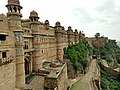 The magnificent wall of Gwalior fort.jpg