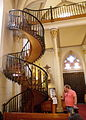 The miracle staircase in Santa Fe's Loretto Chapel, the subject of legends and myths..JPG