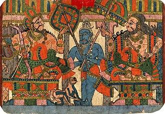 Janamejaya - Image: The sage Vyasa and the king Janamejaya