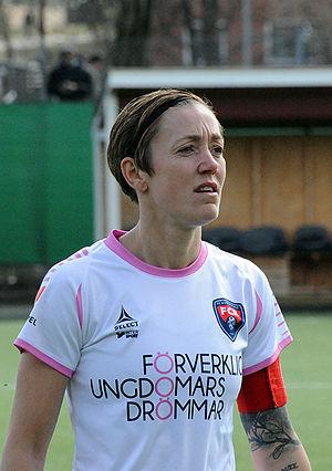Therese Sjögran - Sjögran playing for FC Rosengård