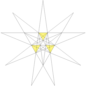 Excavated dodecahedron - Image: Third stellation of icosahedron facets