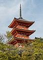 Three-storied Pagoda, Kiyomizu-dera, Kyoto, Southwest view 20190416 1.jpg