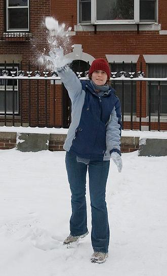 Snowball fight - A snowball throw