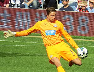 Tim Krul - Krul playing for Newcastle United in 2015