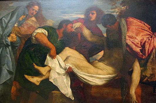 Tiziano, trasporto di cristo, 1520 ca. 02.JPG