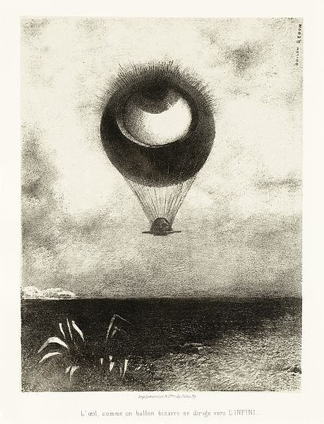 File:To Edgar Poe (The Eye, Like a Strange Balloon, Mounts toward Infinity) (A Edgar Poe (L'oeil, comme un ballon bizarre se dirige vers l'infini)) LACMA AC1997.14.1.1.jpg
