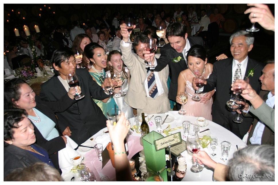 Toasting-Wedding celebration