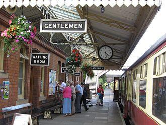 Toddington, Gloucestershire - Toddington railway station on the Gloucestershire Warwickshire Steam Railway line.