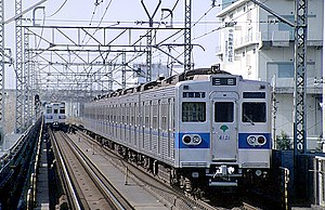 Toei 6000 series - Set 6121 on the Toei Mita Line in February 1999