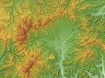 Tokachi Mitsumata Caldera Relief Map, SRTM-1.jpg